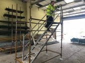 Used Kwikstage Steel Staircase Unit