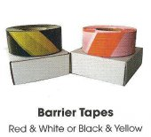 Black / Yellow Barrier Tape - 75mm x 500m