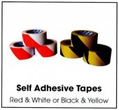 Red / White Self Adhesive Tape 50mm x 33m