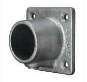 Square Wall Plate Tube Clamp 42.4mm OD - Size 3