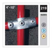 Handrail Socket Cross Tube Clamp 48.3mm OD - Size 4