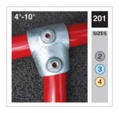 Slope Range Short Tee Tube Clamp 48.3mm OD - Size 4