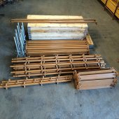 New 40ft x 16ft Kwikstage Run c/w New Timber Battens