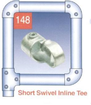Short Swivel Inline Tee At Scaffolding Supplies