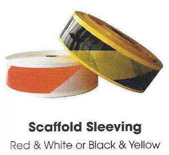 Black Yellow Scaffold Sleeving 500m Scaffolding Supplies