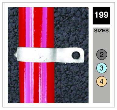 Fixing Bracket Single Sided Tube Clamp 33.7mm OD - Size 2
