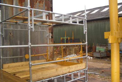 Used 2.5m Cuplok Loading Bay Board Support