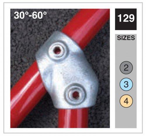 Adjustable Tee Tube Clamp 33.7mm OD - Size 2