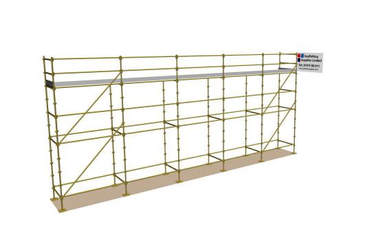 New 40ft x 16ft Kwikstage Run c/w New Galv Steelstage