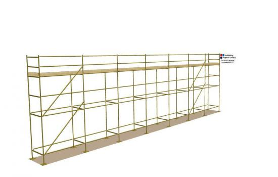 Used 56ft x 16ft Kwikstage Run c/w New Timber Battens